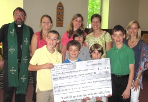 SSPC 2012 Race Donation to The Forever Molly And Gregory Fund